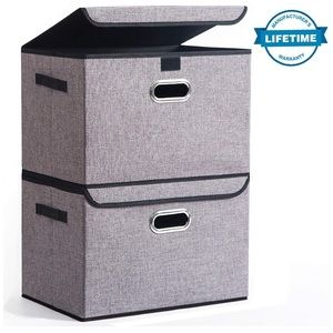 Storage Box Container Bins with Lids Covers[2Pack]